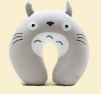 Wholesale Comfort Foam Particles U Neck Travel Pillow Cute Cartoon Pattern Totoro