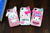 Cheap One piece Onlyl!!! 3D Silicone Case for iphone 5 Lovely Doll Protecting Your Phone