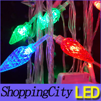 good price purple 220V led Corn string flash Christmas party...