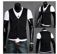 Wholesale Men s casual fashion classic knitted vest Mens slim Cultivate one s moralit Vest