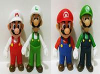 Free shipping 4 styles 12cm Super Mario Bros Luigi Mario Act...