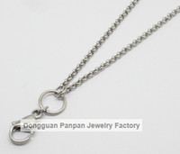 Wholesale Panpan inches Stainless steel silver rolo chain floating locket chains necklace chain