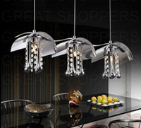 Nouveau verre moderne w / Cristaux Ceiling Light Suspension Lustre x 3 feux MYY5105
