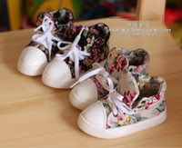 Wholesale New Korean toddler boys girls The help flowers Canvas shoes children Cloth shoes kids Sneakers