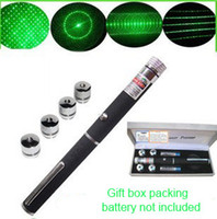 Wholesale 5in1 in Star Cap Pattern nm mw Green Laser Pointer Pen with starring head laser kaleidoscope light DHL Fedex