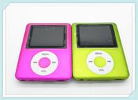 Wholesale 3th LCD Screen MP3 MP4 Player style button Radio FM Video Support GB GB GB GB SD TF Card color w retail box