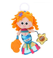 beauty bed - Super cute baby plush toy lamaze colorful mermaid beauty fish bed bell