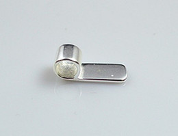 Free shipp,the aperture:6*18mm sterling silver brass pendant glue on bails, glue on bail for pendant