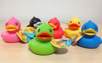 Unisex Toy Sets 6 month-6 years' old hot selling new arrival Baby Kids Bathe Duck Toys For Children Non-Toxic Rubber Toys Favourite Gift For Children