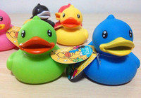Unisex Toy Sets 6 month-6 years' old 10sets one lot new arrival Baby Kids Bathe Duck Toys For Children Non-Toxic Rubber Toys Favourite Gift For Children