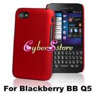 Wholesale Hot Selling Hard Shell Rubberized Rubber back Case Cover For Blackberry BB Q5