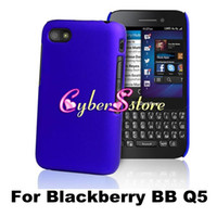 Wholesale Colorful Hard Shell Rubberized Rubber back Case Cover For Blackberry BB Q5