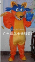 Wholesale 2013 new Easter Halloween plush Cartoon Character adult size Costume mascot Dora s Friend Swiper Fox costumes party dress