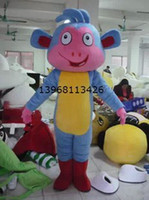 Wholesale 2013 new Easter Halloween plush Cartoon Character adult size Costume mascot Dora s the Explorer Friend Boots monkey costumes party dress