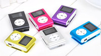 Wholesale LCD Screen Colorful Mini Clip Mp3 player with usb cables retail box earphones support Micro SD card GB Sport Mp3 Mini Mp3 player
