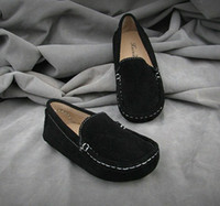 Wholesale 2013 NEW kids shoes moccasin gommino boy girls baby genuine pigskin leather Children s girl cool boys casual black autumn