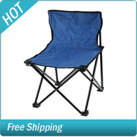 Wholesale Outdoor Fishing Fold up Beach Back Chair M Size Blue