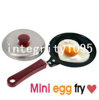 Wholesale Mini Lovely Heart Shaped Egg Fry Frying Pan Cook pan Non Stick have Pot Lids