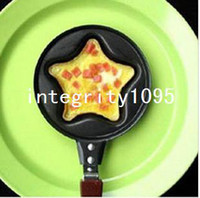 Wholesale Mini Lovely Star Shaped Egg Fry Frying Pan Cook pan Non Stick NO Pot Lids