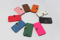 Wholesale 50PC PU Phone Cover for iphone4 S PU Leather Wallet Case for iphone4S Colorful Phone Case iphone4 and iphone4S Case