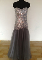 Wholesale 2013 Tony Bowls tbe11344 Charcoal Evening Dresses Luxury crystal gray Prom Dress Mermaid Formal Dresses hot sale sequins floor length beads