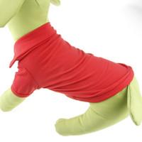 Wholesale 6colors New Pet Dog Clothes apparel Cotton T Shirt Size XS S M L XL
