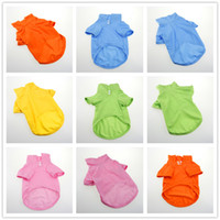 Wholesale 6colors comfortable cotton Pet Dog Clothes apparel Cotton T Shirt