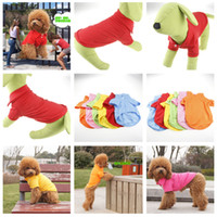 Wholesale 6colors comfortable cotton Dog Apparel dog clothes pet clothes Cotton T Shirt
