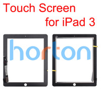 Wholesale Digitizer Touch Screen Pannel for the new iPad ipad Black White Glass Faceplate Repair Part Replacement DHL Within hr