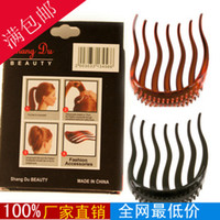 Women's american girl pony tail - Womens Insert Comb Jewelry Acrylic Hair Clip Horsetail Plug Combs For Girl The Newest