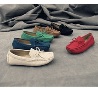 Unisex moccasin shoes - 2013 NEW kids shoes moccasin gommino boy girls PU leather Children s girl boys BOW casual autumn