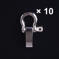 Wholesale 10 O Shaped Adjustable Buckle Stainless Steel Shackle For Paracord Survival Bracelet