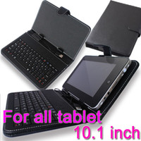 Wholesale 10 quot Inch USB Leather Keyboard stand Case cover for All the common Tablet PC samsung tab ipad mini google Dell HTC Lenovo Acer