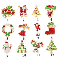 Wholesale Europe and the United States Christmas ornaments exquisite drip brooch Christmas gifts brooch