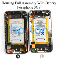 Wholesale Housing Assembly Battery Complete Full Back Cover Housing Case for iPhone GS Black White GB GB