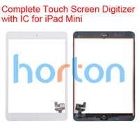 Wholesale Complete Touch Screen Digitizer Assembley with IC for iPad Mini Touch Panel Black White AF693