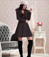 Wholesale New Slim Casual Women s Wool cashmere Coats One Button Fashion Style Slim Overcoats