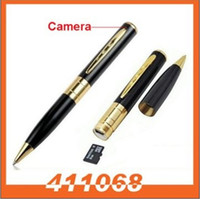 Wholesale Spy Camera Spy Pen Camera Golden With Black Color Hidden Webcam Camera