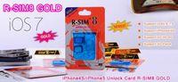 Wholesale AAAAAA R SIM RSIM8 R SIM8 For Unlock iphone iphone5 Dual Sim Card Blue Classic iphone S iOS GSM CDMA WCDMA plug and play