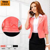 Women women business suits - 2015 Hot Women Suits Jackets Blazers business suits wear with bowknot back casual suit women s coat women s clothes