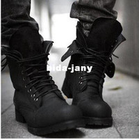 Wholesale Hot Retro Combat Military Mens Boots Suede Shoes Casual Boot Black Brown A460