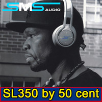 Wireless Cell Phones Stereo SMS Audio SL350 Sync by 50 Cent Bluetooth 4.0 Hifi Wired And Wireless Dual Mode MIC Call Over Ear Headband Headphones For MP3 MP4 Iphone