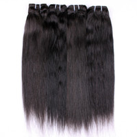 Wholesale India Black hair Human straight Hair quot quot remy human hair weft natual black hair extention t5597