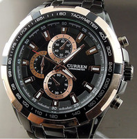 Wholesale NEW CURREN TRENDY SPORTS MILITARY STYLE WRIST WATCH GOLD amp BLACK