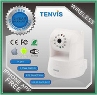 Wholesale TENVIS Pieces Offical Seller Pure White WIFI PTZ H Megapixel Wireless IP Network Camera IPROBOT