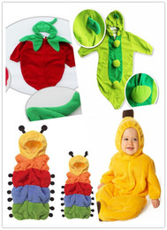 Wholesale New arrival styles cute Baby sleeping bag caterpillar banana penguin chilli sleeping bags A quality