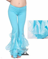 bell bottom dance pants - dancing belly dance crimping bottom bell pants trousers costume wear cloth C1149