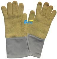 working gloves split leather - 350 Centigrade Degree aramid Fiber Cow Split Leather Heat Resistant Work Gloves