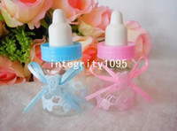 Wholesale Baptism Wedding Favor Gift Chocolate Baby Feeding Bottle Baby Shower Favor Candy Box with Bowknot