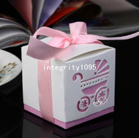 best baby prams - Pink Cute New Pram Stroller Baby Cart Candy Boxes Best for Baby Shower Wedding Favor Bag